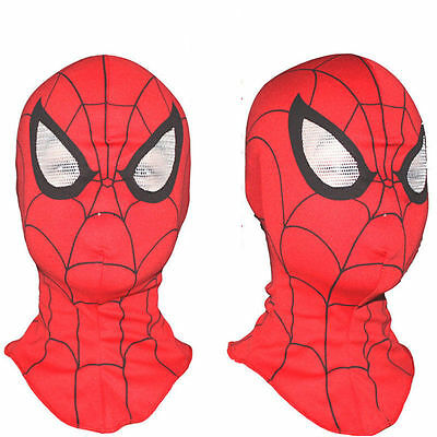 Super Heroes Spiderman Mask Adult Kids Cosplay Fancy Dress Costume Party Spider