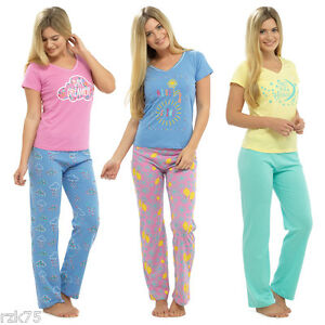 766c3c587f3e Image is loading Ladies-Designer-T-Shirt-amp-Pants-Pyjama-Set-