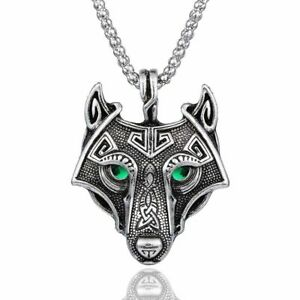 Norse-Wolf-Head-Pendant-Metal-Fashion-Viking-Amulet-Necklace-Nordic-Medalion