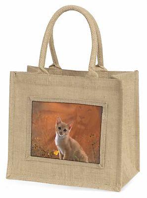 Geist der Löwe über den Kätzchen zu sehen Große natürliche jute-einkaufstasche