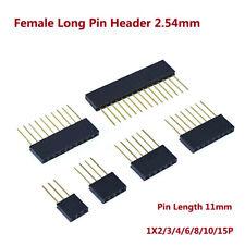 Female Long Pin Header 254mm Connector Socket 1x234681015p Pin Len11mm