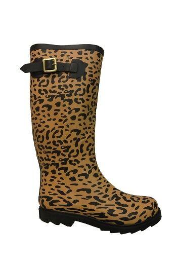 NIB Betsey Johnson Drizle Rubber RainStiefel in in RainStiefel Leopard 756dd6