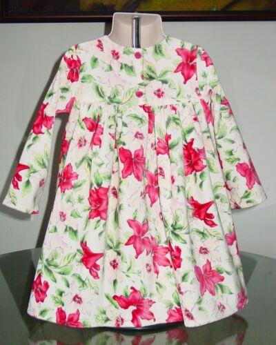 NEW Baby Lulu HOLIDAY POINSETTIA Velvet Dress sz 2T Christmas