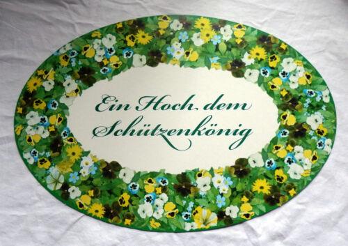 """1 Plakat  /""""Ein Hoch dem Schützenkönig/""""  Tür Schild Türplakat Schützenfest Bogen"""