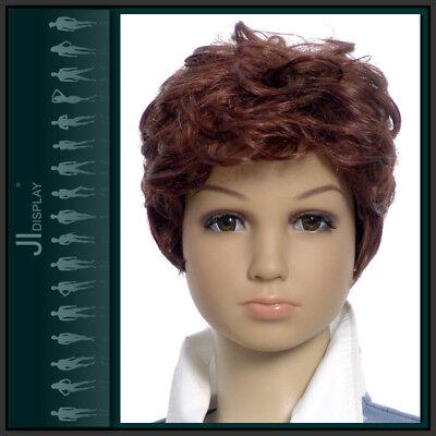 Kinder Perücke Wig 003-33B Kinderpuppen Mannequin Schaufensterpuppe Haare braun