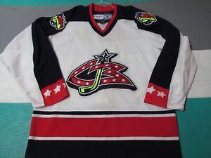 Authentic-Columbus-Blue-Jackets-CCM-Hockey-Jersey-Men-039-s-48-Fight-Strap-NHL