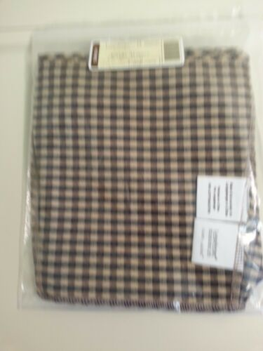 Longaberger Small Gathering Basket Khaki Check Over The Edge Liner Only New