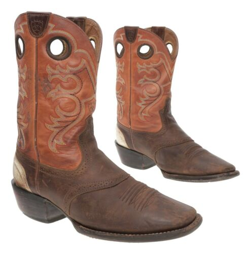 ARIAT Cowboy Boots 12 D Mens Oiled Brown Leather R