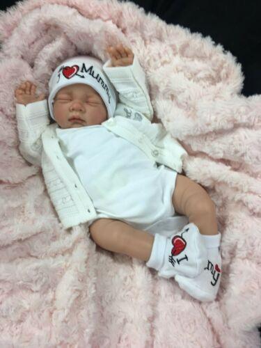 REBORN BABY GIRL FIRST REBORN UNISEX OPEN EYED BABY I LOVE MUMMY 0127S