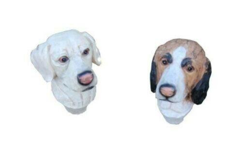 Dog Head 14x12x18cm Poly-Resistance Bush and Heckendeko Garden Patio Decoration