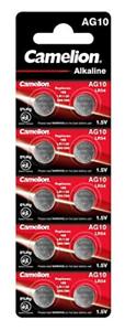 Piles-Bouton-Alcaline-AG10-LR54-LR1130-1-5V-0-Mercure-Camelion