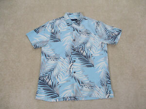 Tommy-Bahama-Button-Up-Shirt-Adult-Small-Blue-Gray-Floral-Silk-Camp-Mens-B15