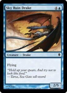 MTG-NM-Sky-Ruin-Drake-ZEN-Zendikar