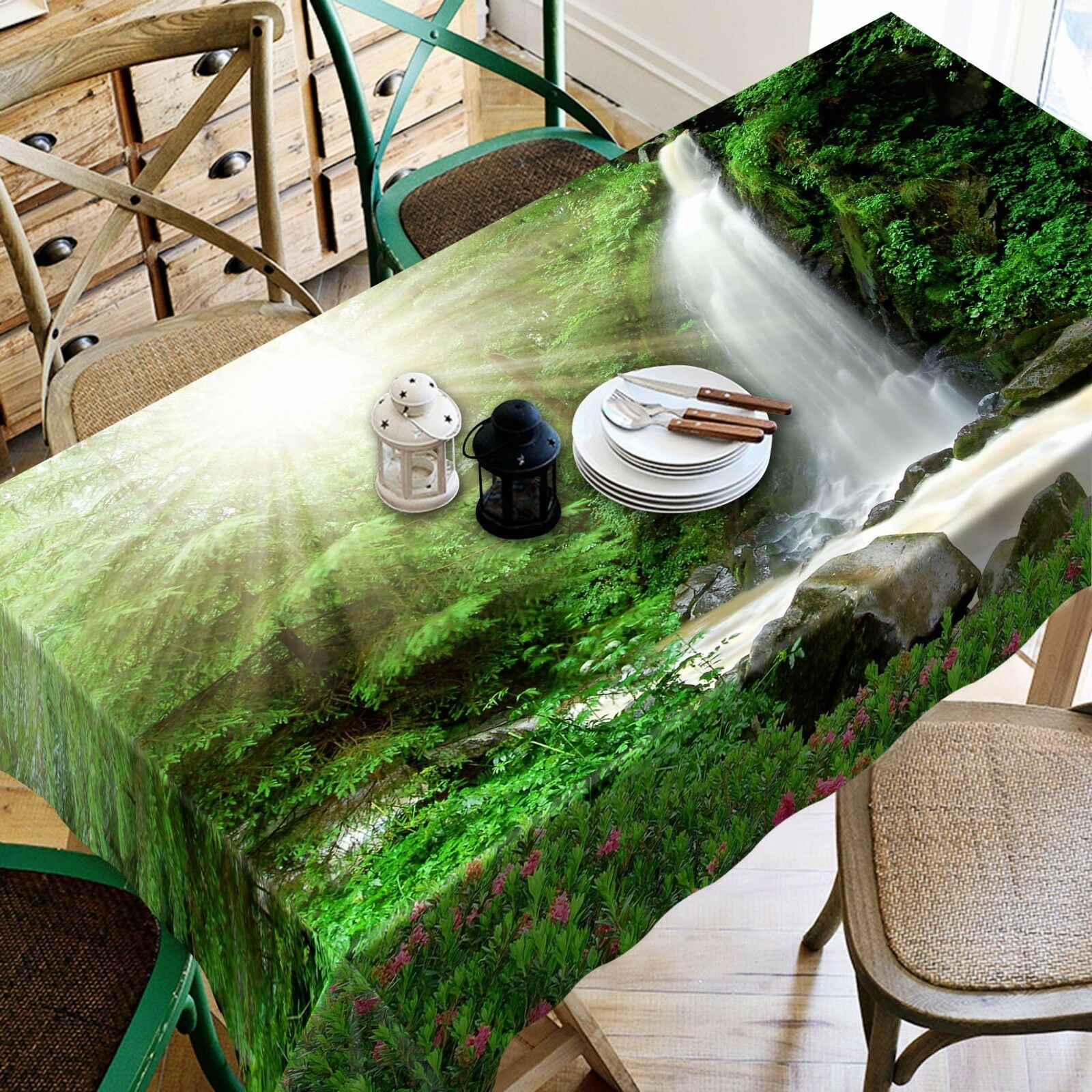 3D    Sun 424 Tablecloth Table Cover Cloth Birthday Party Event AJ WALLPAPER AU e90366