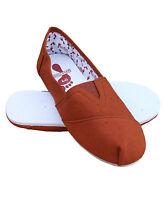 Soul Star Men's Canvas Espadrilles Casual Shoes Pumps Rust