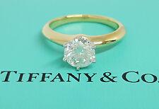 Tiffany & Co 1.01 ct 18K Gold / Platinum Round Diamond Solitaire Engagement Ring