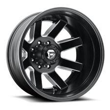 17 Inch Black Wheels Rims Dodge Ram 3500 Chevy Silverado Ford F350 Dually 8x65