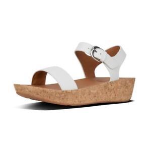 Sur Femmes Blanc K25 Sandale Dos Bracelet Bon Ii 194 Flop Détails Cuir Fit Modèle En rCsQdth