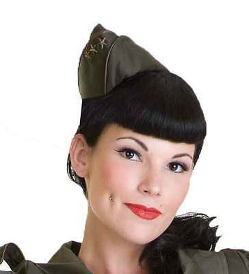 Army Military Garrison Cap Pin Up Living Dead Souls USO Canteen Steampunk Hat