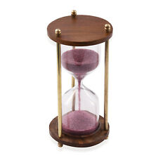 Home Living Room Decor Gift Handcrafted Purple Sand Timer Wooden Hourglass 3 min