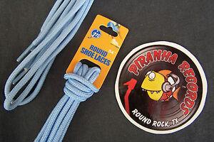 Baby-Blue-Thin-Round-54-034-x-1-8-034-3-8-034-JN-Shoelaces-Shoe-Strings-Piranha-Records