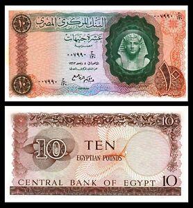 Egypt-1963-10-Pounds-Tutankhamen-UNC-P-41-Signed-Abdel-Hakim-El-Re
