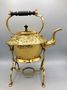 Vintage-Brass-Teapot-with-Stand