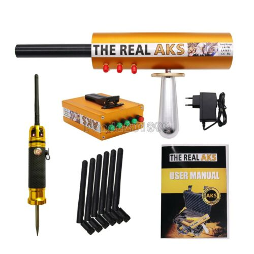 The Real AKS Long Range Gold Detector 6 Antennas W//Case for Gold Silver Filter