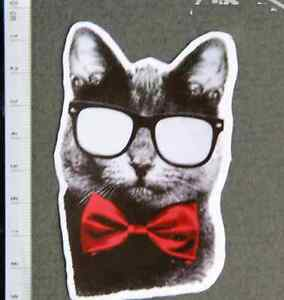 Business Cat Bow Tie FUNNY CUTE Sticker Mac Book Guitar Car Vinyl - Cute custom vinyl stickers   for business