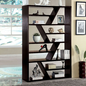 Image Is Loading Kamloo Contemporary Style Display Zigzag Shelf Bookshelf  Bookcase