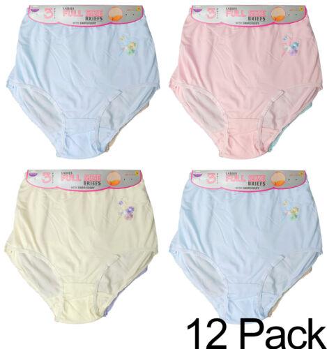 Womens Full  Brief Floral Underwear Panties Knickers 3XL 4XL 5XL 6XL 3 6 12 Pack