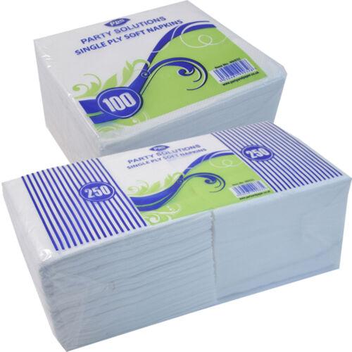 Servilletas Blanco 1PLY 30cm X 30cm 100-1000 disponible P! Servilletas para llevar Free P