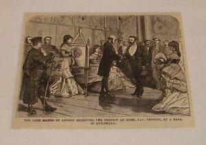 1876-Revista-Grabado-Lord-Mayer-Prefect-de-Roma-Londres