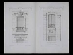 Bien Fenetres, Oeil De Boeuf, Lucarne - 1873 - Gravures, Materiaux Et Documents Achat SpéCial