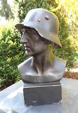 original  Büste Soldat mit Stahlhelm  M 16  signiert F.P. Zimer