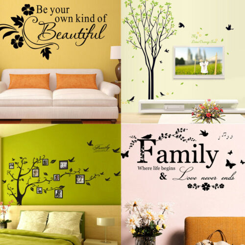 Family Tree Bird Home Wall Decal Sticker Vinyl Photo Picture Frame Removable DIY