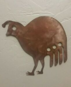Image Is Loading Quail Metal Wall Art Copper Patina Finish Southwestern