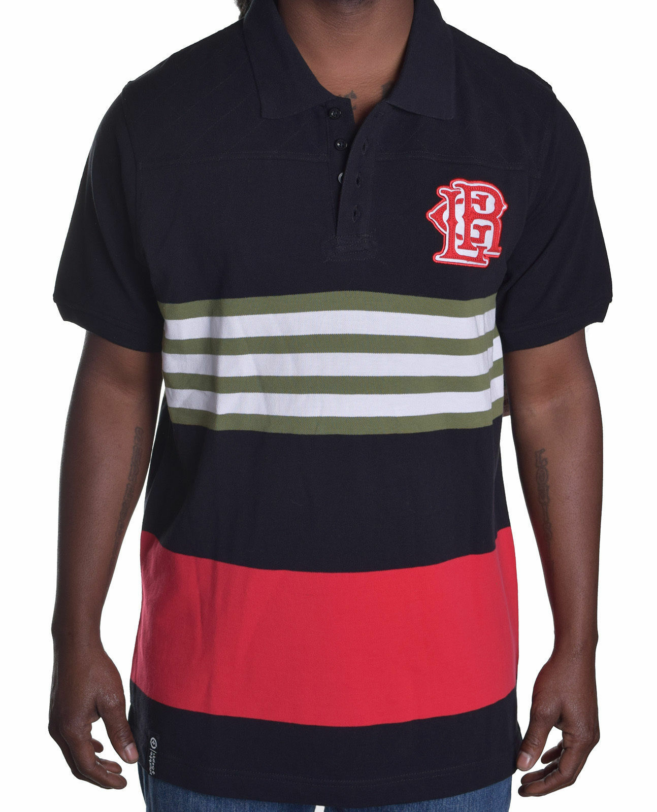 LRG United Nations Germany Black Red Yellow Polo NWT Sz  L Large