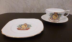 Coronation Queen Elizabeth II 6/2/53 Cup Saucer Plate Set Windsor China England