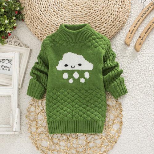 Child Girl Boy Cloud Rain Pullover Sweater Kid Baby Autumn Winter Warm Outerwear