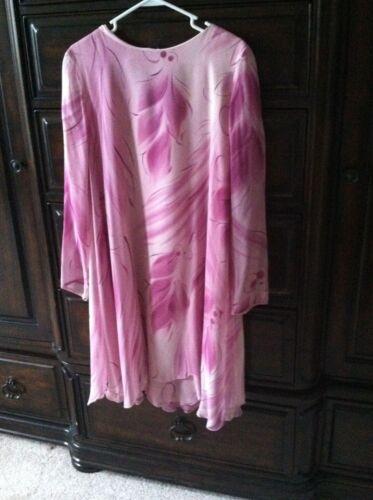aanbieding Yolanda jurk Mauve Vintage sjaal S wervelende Pink Nieuwe Ov4TdxT