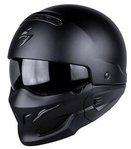 Casque-MOTO-helmet-SCORPION-EXO-COMBAT-SOLID-Taille-S-55-56