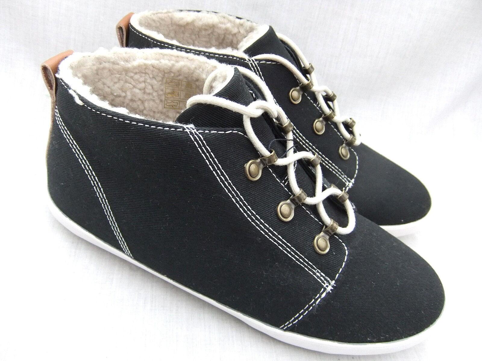 NEW FROT PERRY Damenschuhe Stiefel B1097W GLOBE TWILL BLACK Stiefel Damenschuhe SIZE 4 EU 37  BNIB ef8eb7
