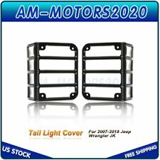 2x Tail Light Guards Covers Matte Black For 07 17 Jeep Wrangler Jk Us Fits Jeep