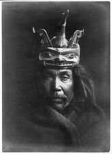 "Native American Indian Edward Curtis Tluwulahu Mask Kwakiutl 7x5"" Reprint Photo"
