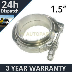 V-BAND-CLAMP-FLANGES-COMPLETE-STAINLESS-STEEL-EXHAUST-TURBO-HOSE-1-5-034-38mm