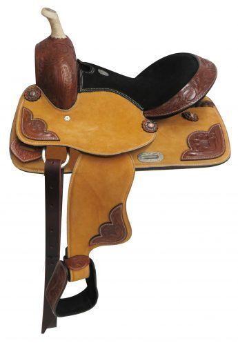 Double T PonyYouth suede leather saddle 13