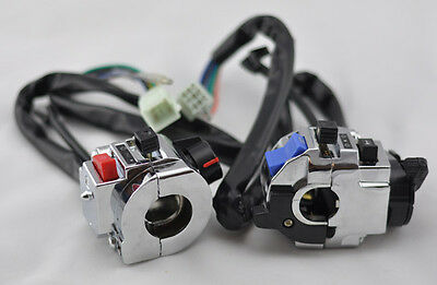 "Pair 7/8"" Universal Motorcycle Handlebar Light Controller Multi Function Switch"
