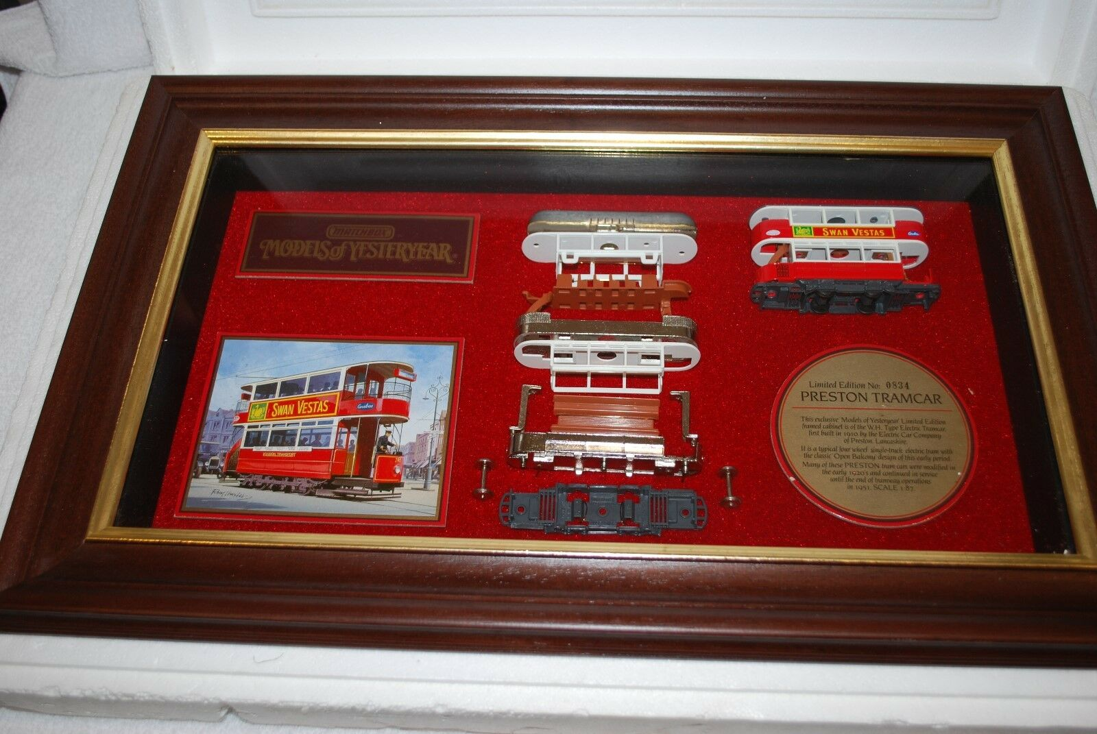 Collectable Matchbox Models of Yesteryear Ltd Edition No 0834 Preston Tramcar