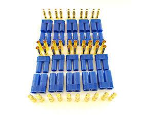 20-Stk-EC5-Stecker-Buchse-Set-10-Paar-AMASS-Goldkontakt-5mm-E-flite